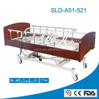 beautiful appearance electric metal folding medical home care bed