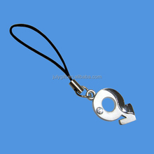 custom metal mobile phone key chain for decoration