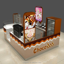 3D modern ice cream kiosk design modern chocolate retail kiosk for sale