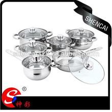 High Quality Saucepan Frying Pan Cooking Pot 12PCS Stainless Steel Cookware set With Good Price