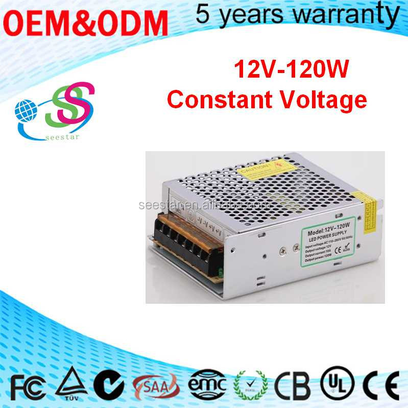 led constant voltage driver 120W 12V 10A switch power supply 2 years warranty