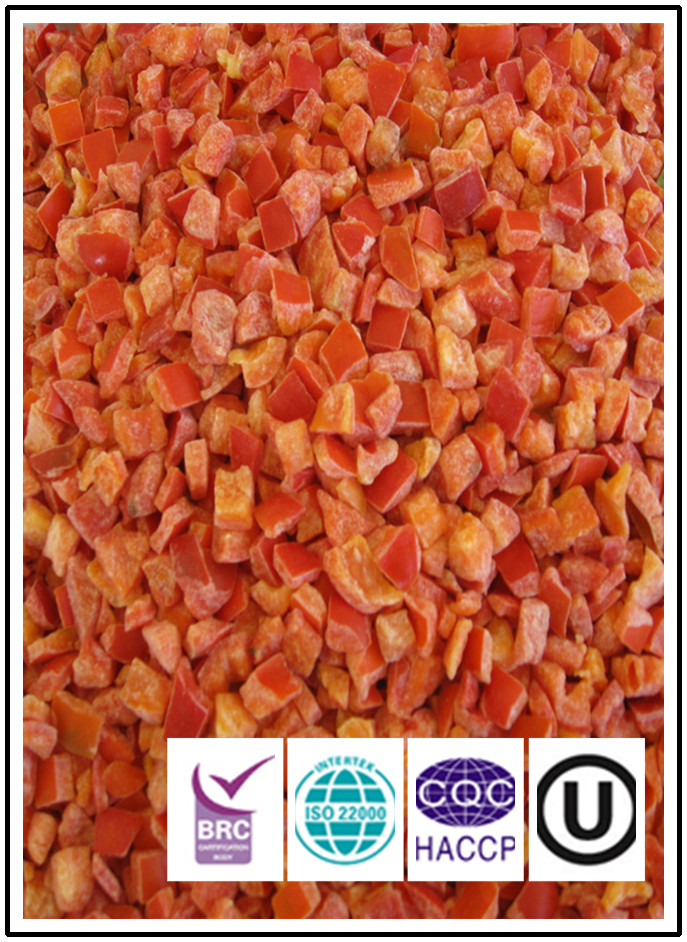 Factory direct frozen IQF red bell pepper IQF