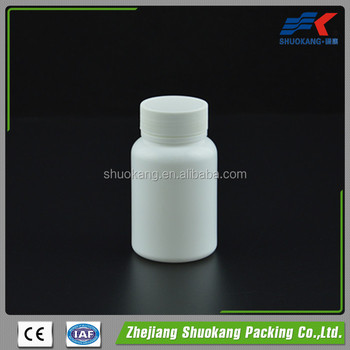 100 cc boston round pharmaceutical packaging pill solid plastic bottle, 100ml white HDPE medicine plastic container