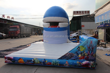 Wholesale giant hippo inflatable water slide for adults and kids