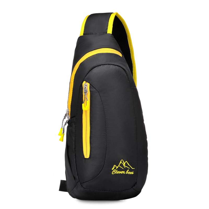 China supplier lightweight chest bag women sport nylon sling backpack