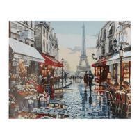 Unframed Decorative Painting with High Imitation Ink Painting Street Landscape Oil Painting Wall Art Picture For Living Room