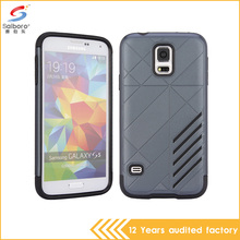 Gray color TPU and PC shockproof cell phone case for samsung galaxy s5 made in china