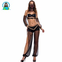 Halloween belly dance show costumes new club sequined decorative sexy four-piece stage clothing