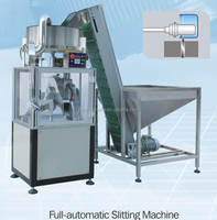 Full-Automatic High Speed Plastic Cap Slitting Machine for Cutting Caps