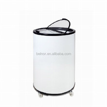 CC-40G Commercial glass door display can cooler / barrel shape refrigerator / fridge with wheel