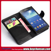 China market of electronic for Samsung Galaxy S4 Active I9295 leather flip case