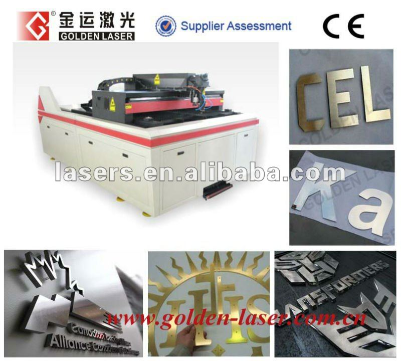 Metal Brass Laser Cutting Machine For Sign Letters