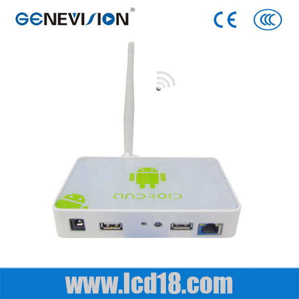 Full Hd media player digital signage box for advertising android TV BOX