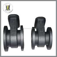 OEM custom ductile iron casting valve parts for oil company