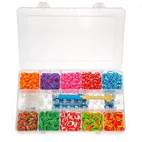 Rubber Bands With S Clips For Loom Bracelets DIY Craft Making With S-Clips Mixed Color