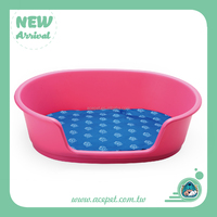 667 Taiwan design Pet product,3coior Plastic pet beds for dogs and cats