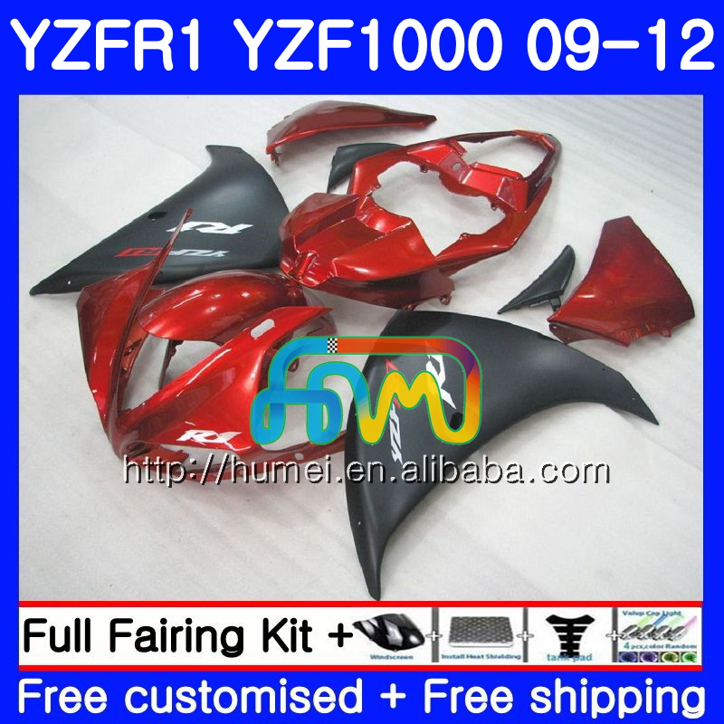 Body For YAMAHA YZF-<strong>R1</strong> Red black YZF-1000 YZF <strong>R1</strong> <strong>09</strong> 10 11 12 104HM59 YZF1000 R 1 YZF 1000 YZFR1 2009 2010 2011 2012 Fairing