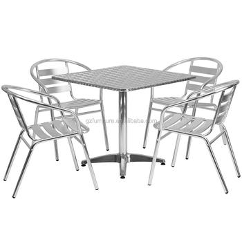 Aluminum Slat Back Indoor-Outdoor Restaurant Chair