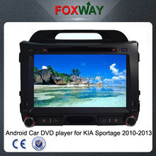 8 Inch Android 4.2 2din car stereo kia sportage car dvd player with gps navigation/wifi/radio/BT/dvd vcd cd player