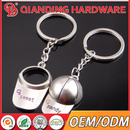 Metal alloy spinning house keychain keyring free laser logo