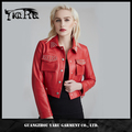 European women winter ladies PU motorcycle down jackets wholesale leather jacket