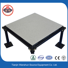 Anti static calcium sulfate modular raised flooring