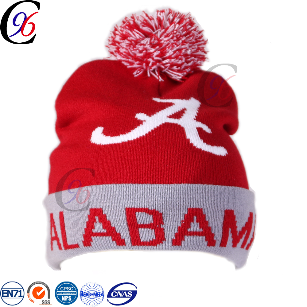 Chengxing2017 new style online wholesale cheap top quality knitted warm pattern beanie crochet free pom hat