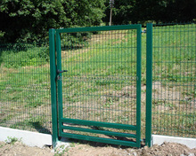 Security Triangle Fence Welded Bend Fence Panel / Yard Guard Wire Mesh Fence