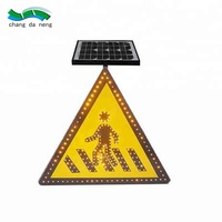 manufacturing Aluminum Solar Panels LED illuminated Traffic stop/speed limit/directional sign