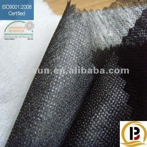 polyester lining non woven fusible interlining for heavy enzyme washing