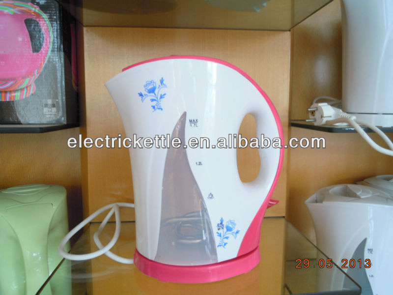 picture printed plastic electric kettle