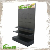 Wholesale Metal Hanging Display , Pegboard floor Display Rack , free standing pegboard display stand