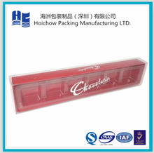 High quality chocolate insert blister tray with plastic printed outer box