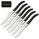 "4"" stainless steel laguiole steak knife set and dinner knife"