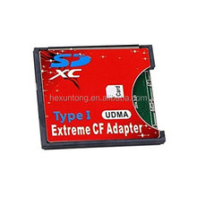 SD SDXC MMC To CF Compact Flash Type I Memory Card Adapter Reader