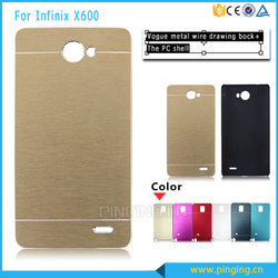 Durable brushed armor back cover case for infinix x600
