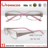 FONHCOO New Arrival Pink Floral Temple Beauty Designer Eyeglass Frames For Women And Lady