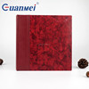 GuanMei Silk Road Style Red Color Book Bound 4D 3up Photo Album With Slip In 50 Sheets