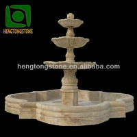 Big Marble Garden 3 Tiers Water Fountain with Pool