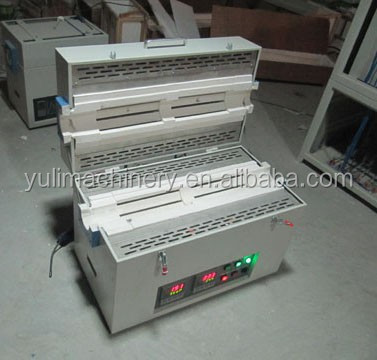Wholesale cheap price quartz tube furnace,1200C 2 zone horizontal tube furnace for laboratory