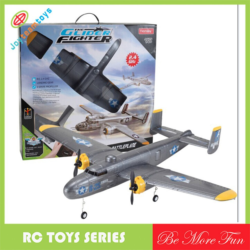 Big size Rc Model Airplane RC Glider with LED light B-25