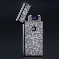 Hot Excellent 5 Styles USB Rechargeable Flameless Electric Double Arc Windproof Cigar Cigarette Lighter