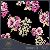 floral designed sleepwear burnout silk velvet fabric