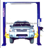 LX-G3500 Clear Floor Two Post Duplex Gantry Car Lifter with Two Sides Electrical Release Price Two Post Hydraulic Car Lift Pric