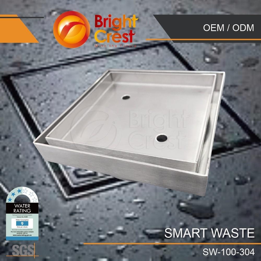 Smart tile floor waste