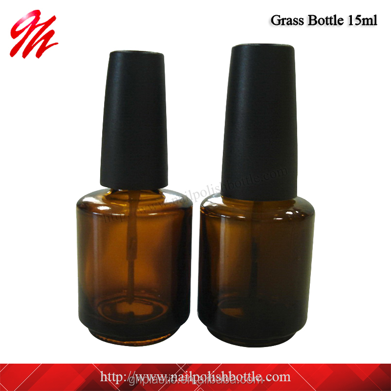 15ml Amber Glass <strong>Bottle</strong> For Nail Polish