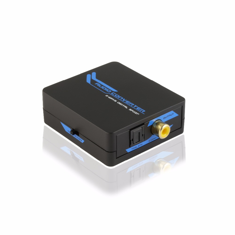 2-way digital SPDIF COAXIAL/TOSLINK bi-direction 2 in 1 out audio converter LPCM2.0/DTS/Dolby