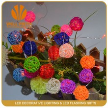 LED magic mini plasma rattan ball lights