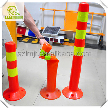 Manufacture IP67 high reflective TUP/Rubber flexible delineator post
