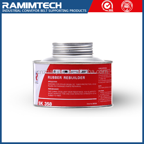rubber vulcanized repair adhesive bonding solvent for conveyor belts